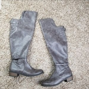 BC| Grey over the knee riding boots